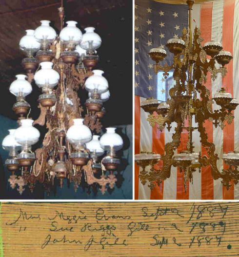 Oil Chandelier from Shelbyville, Tennessee