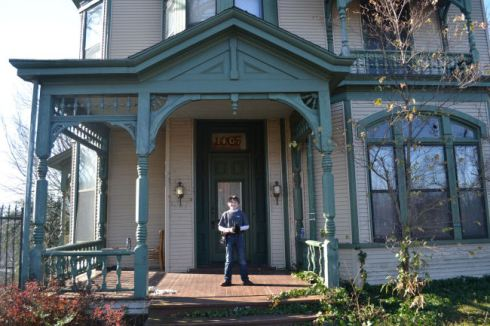 Tripp Gudger on the front porch - 1890 Victorian House - Arkansas