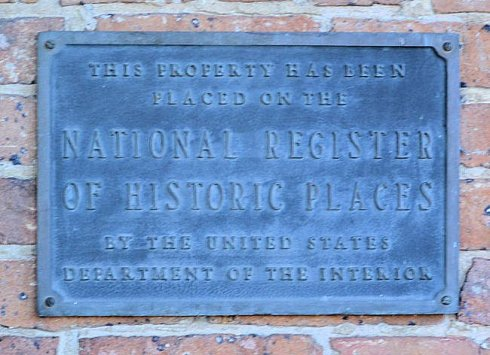 Plaque from Natural Registry of Historic Places - 1890 Brunner House in Arkansas