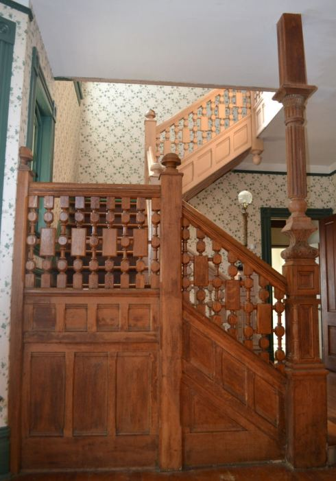 Solid wood staircase from 1890 Victorian house
