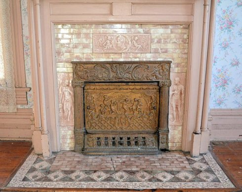 Tile set and fireplace front are some of the most beautiful we've ever seen