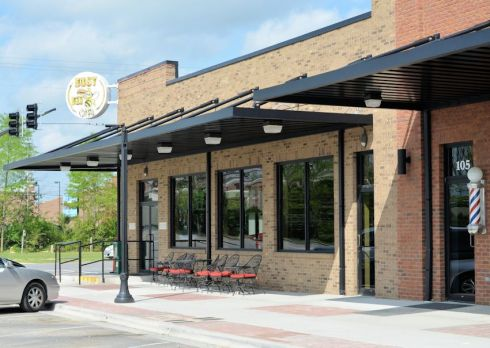 The Busy Bee Cafe reopened it's doors on the one year anniversary of the tornado that destroyed the original location.