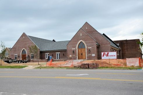 Christ Lutheran Church - Re-construction process nearing completion 2 years later