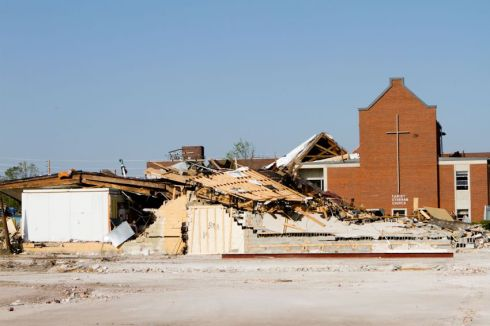 Christ Lutheran Church - reduced to rubble
