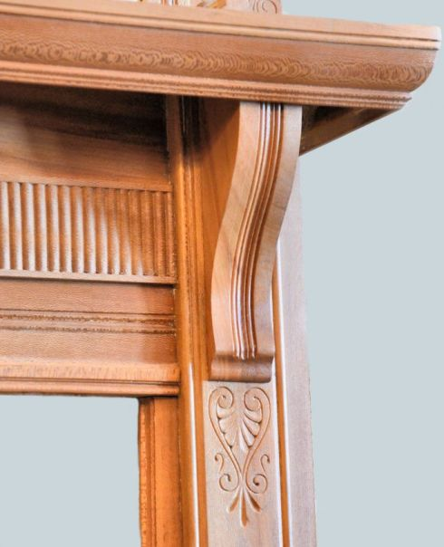 Birdseye Maple Mantel -  circa 1890 from the Bruner house in Little Rock, Arkansas.