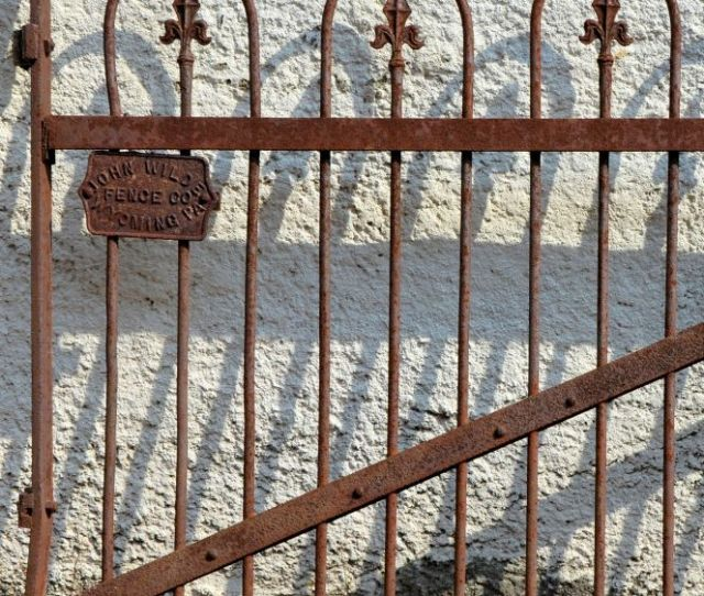 This Gorgeous Wrought Iron Fence Contains A Makers Mark Which Tells Us That This