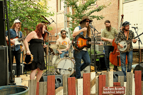 The Banditos entertained the crowd with their eclectic mix of Americana and Folk music.