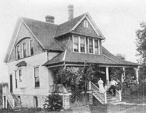 This old black and white photo shows the Dr. Luther Hays house in it's prime!