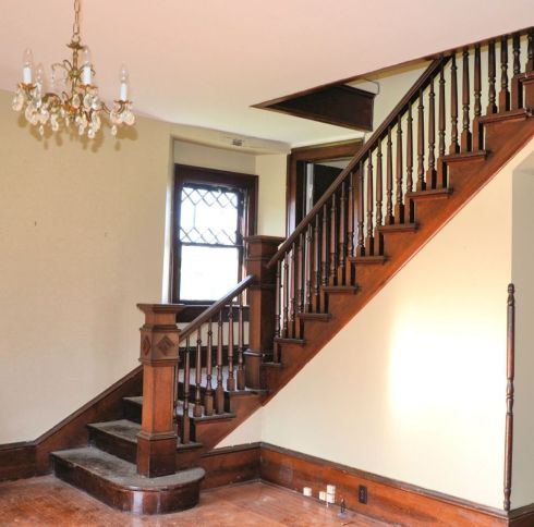 Entering the front door, this beautiful staircase is the first thing to catch your eye.