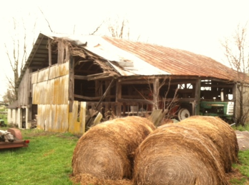 1815 barn in Rising Sun, Indiana where Frank James supposedly hid out overnight!