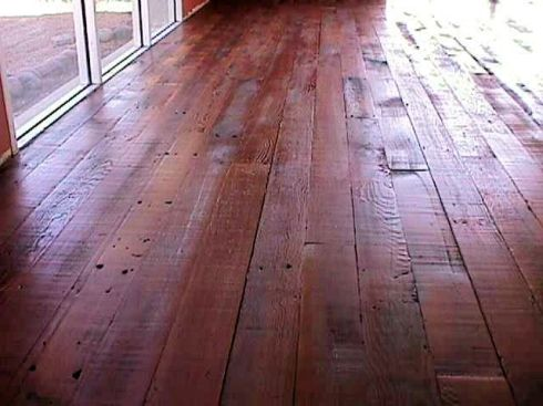 Another beautiful salvaged wood floor