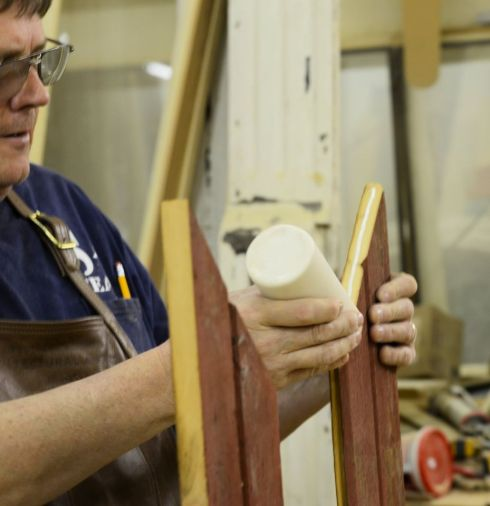 Wood glue was used in the frame assembly.