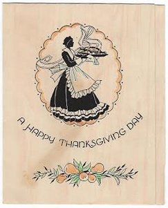 Thanksgiving card postmarked November 23, 1936. The stamp cost 3 cents!