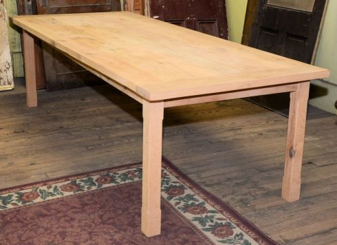 The salvaged wood used for this large table, built by Josh, was planed on all sides creating a smooth finished look that can be stained or painted.