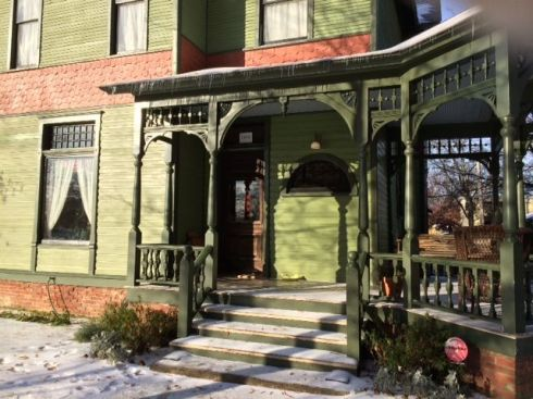 Ed and Laura Sergeant purchased the porch that we salvaged from an 1890 Victorian house in Little Rock, Arkansas and had it added to their own beautiful home. This is one of our favorite finished project pictures!