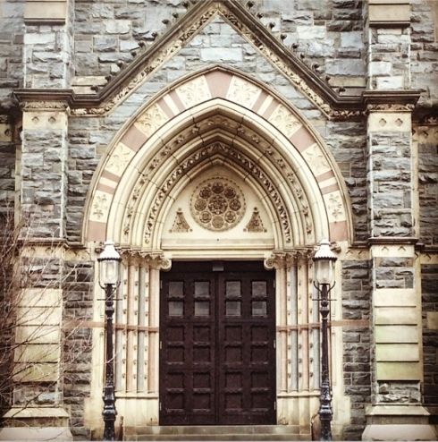 Gorgeous church entrance in Washington D.C.