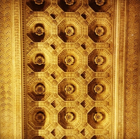 Plaster ceiling from Bureau of Engraving building in Washington D.C.