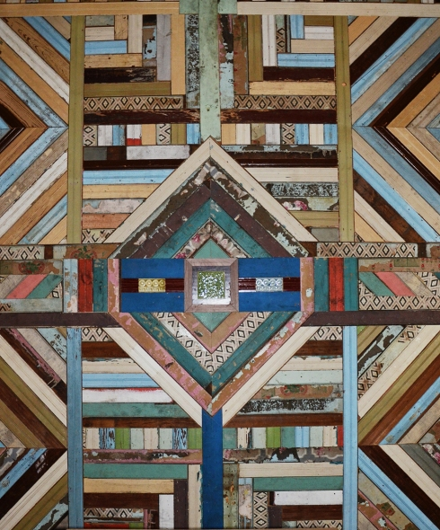 This beautiful salvaged wood wall art is a MUST SEE! The wall is located in Southern Accents upstairs showroom.