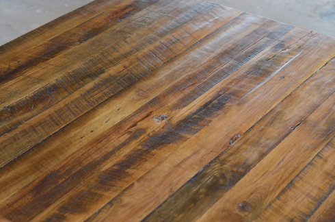 The table was finished with Briwax which helps to seal and protect the wood without covering up the natural patina.