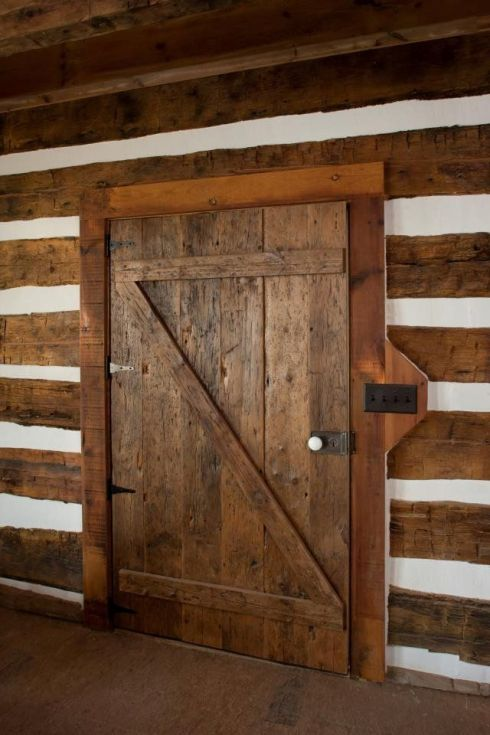 This barn door was custom made from salvaged materials for a customer.