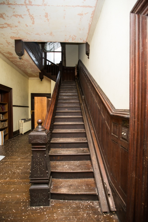Stairway leading to the second story