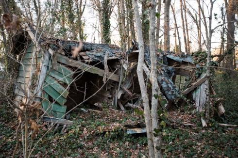 Remains of what use to be a playhouse