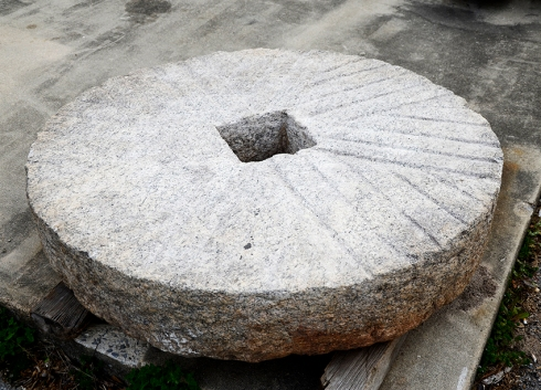 Each millstone is unique in size and face patterns.