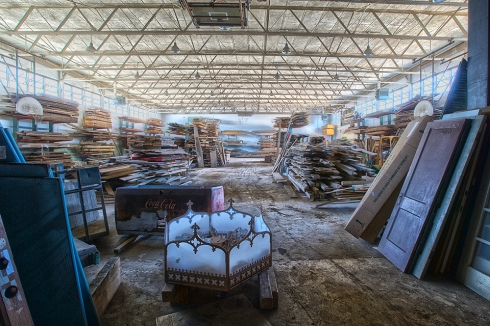 Our two Wood Warehouses are filled with salvaged wood and trim. Our inventory changes weekly and includes a variety of wood species in naturally distressed and aged paint finishes. The wood can be used as is or can be planed to reveal a clean face finish.