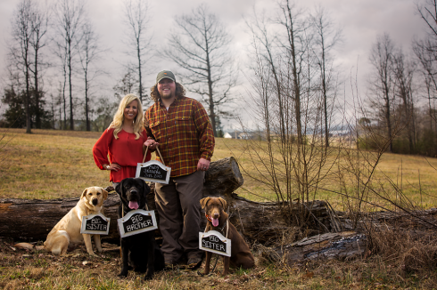 Ben and his wife Lindzie are the proud owners of three labs, Nala, Huck and Tate. Their four legged children are preparing to welcome a new member to the family this fall!