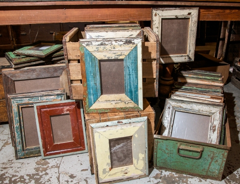 Hand crafted, salvaged wood frames available in a wide variety of colors in three sizes!